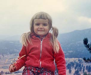 Eliza at 3 years old, near Boulder, CO