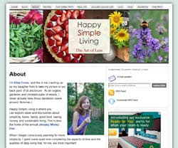 Happy Simple Living blog