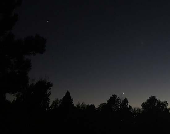 Dark sky with stars