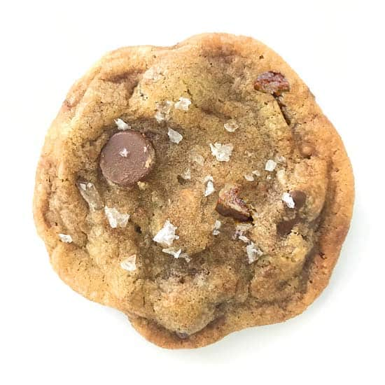 browned butter toffee chocolate chip cookie