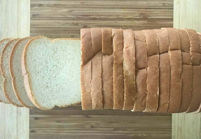 Thinly sliced white bread