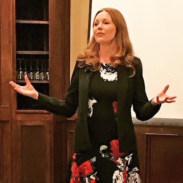 Eliza Cross speaking