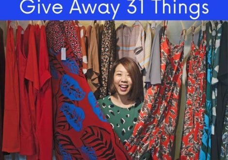 Give away 31 things during the January Money Diet
