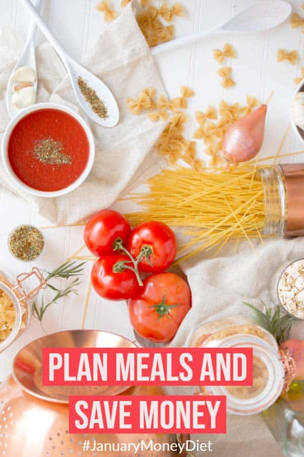 Plan meals and save money