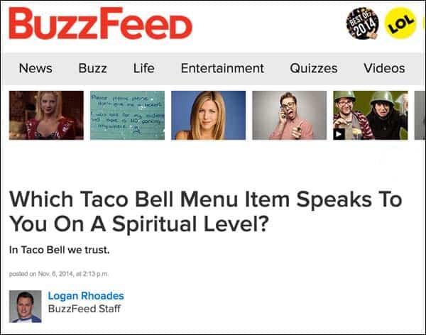 Buzzfeed headline