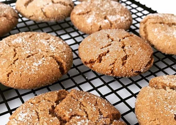 ginger cookies cooling