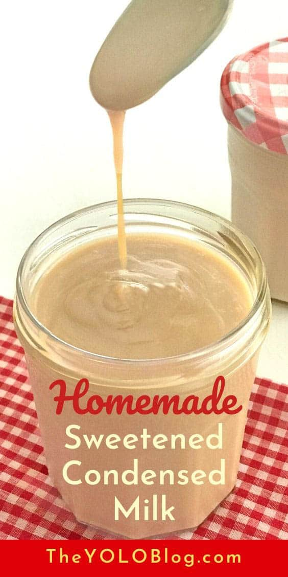 With this homemade sweetened condensed milk recipe?, it�s easy to make your own and save money. No canned flavor, all natural ingredients, and no need to run to the store if you�re out! #sweetenedcondensedmilk #condensedmilk #bakingsubstitutions #homemadeingredients #bakingbasics