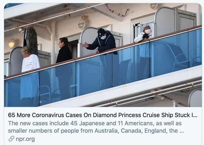 cruise ship during coronavirus
