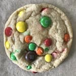 M & M cookies