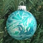 Marbleized ornament