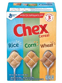 Triple Chex cereal for Chex mix