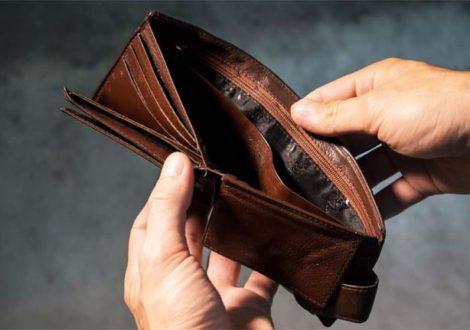 January money diet empty wallet